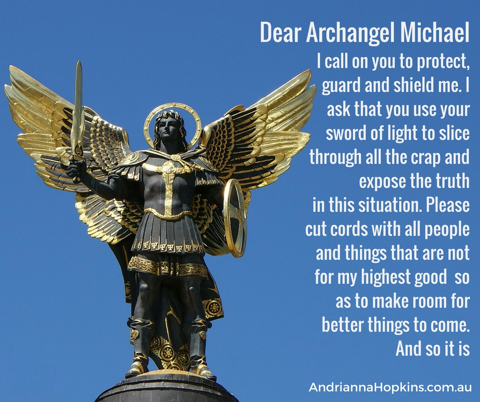 Archangel Michael protection cutting cords sword of truth 2017
