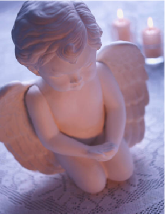 angel with candles 2
